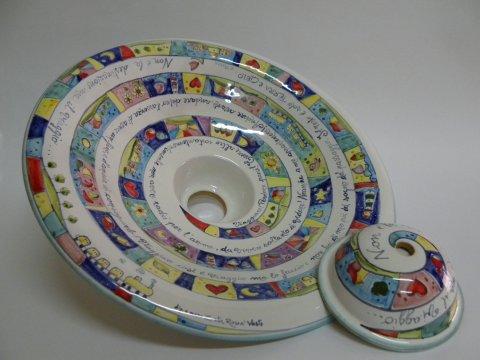 Lampadari in ceramica dipinti a mano. - Laboratorio artigianale di ...