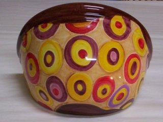 ( CODICE ARTICOLO: ILL/10) Applique in ceramica da parete decorato a mano con bolle.Tecnica: maiolica