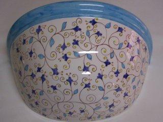 ( CODICE ARTICOLO: ILL/07) Applique in ceramica da parete decorato a mano con motivo arabo.Tecnica: maiolica