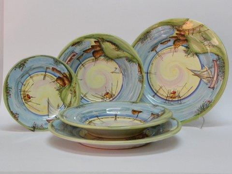 Piatti artigianali in ceramica laboratorio artigianale for Servizio di piatti