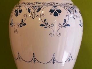 (CODICE ARTICOLO: PO/01) Portaombrelli in ceramica dipinto a mano con decoro
