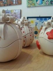 Il 10 dicembre dipingi la tua scatola di Natale in ceramica - per adulti.