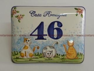 Numeri Civici In Ceramica.Numeri Civici In Ceramica Personalizzati Laboratorio