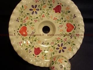 cod.art: la16 - Lampadario in ceramica, dipinto a mano e personalizzato su richiesta.  Ne vorresti uno simile? Invia una richiesta e riceverai il preventivo con le spese di spedizione.