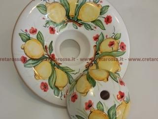 cod.art: la03 - Lampadario in ceramica, dipinto a mano e personalizzato su richiesta.  Ne vorresti uno simile? Invia una richiesta e riceverai il preventivo con le spese di spedizione.