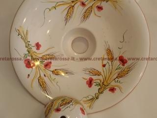 cod.art: la04 - Lampadario in ceramica, dipinto a mano e personalizzato su richiesta.  Ne vorresti uno simile? Invia una richiesta e riceverai il preventivo con le spese di spedizione.