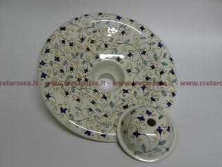 cod.art: la01 - Lampadario in ceramica, dipinto a mano e personalizzato su richiesta.  Ne vorresti uno simile? Invia una richiesta e riceverai il preventivo con le spese di spedizione.