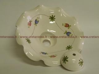 cod.art: la07 - Lampadario in ceramica, dipinto a mano e personalizzato su richiesta.  Ne vorresti uno simile? Invia una richiesta e riceverai il preventivo con le spese di spedizione.