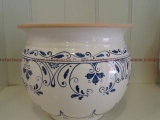 cod.art: po08 - Portavaso in ceramica dipinto a mano in base alla richiesta del cliente. Ne vorresti uno simile? Invia una richiesta e riceverai il preventivo con le spese di spedizione.