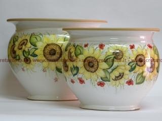 cod.art: po14 - Portavaso in ceramica dipinto a mano in base alla richiesta del cliente. Ne vorresti uno simile? Invia una richiesta e riceverai il preventivo con le spese di spedizione.