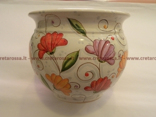 cod.art: po12 - Portavaso in ceramica dipinto a mano in base alla richiesta del cliente. Ne vorresti uno simile? Invia una richiesta e riceverai il preventivo con le spese di spedizione.