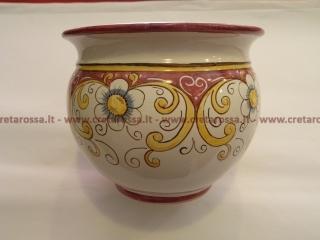 cod.art: po11 - Portavaso in ceramica dipinto a mano in base alla richiesta del cliente. Ne vorresti uno simile? Invia una richiesta e riceverai il preventivo con le spese di spedizione.