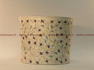 cod.art: po13 - Portavaso in ceramica dipinto a mano in base alla richiesta del cliente. Ne vorresti uno simile? Invia una richiesta e riceverai il preventivo con le spese di spedizione.