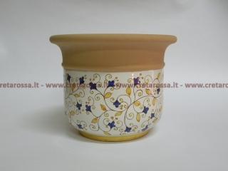 cod.art: po09 - Portavaso in ceramica dipinto a mano in base alla richiesta del cliente. Ne vorresti uno simile? Invia una richiesta e riceverai il preventivo con le spese di spedizione.