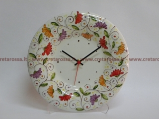 cod.art: or01 - Orologio in ceramica dipinto a mano in base alla richiesta del cliente. Ne vorresti uno simile? Invia una richiesta e riceverai il preventivo con le spese di spedizione.