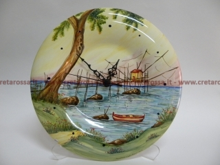 cod.art: or07 - Orologio in ceramica dipinto a mano in base alla richiesta del cliente. Ne vorresti uno simile? Invia una richiesta e riceverai il preventivo con le spese di spedizione.