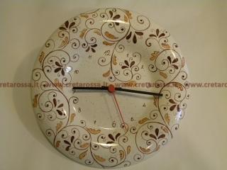 cod.art: or04 - Orologio in ceramica dipinto a mano in base alla richiesta del cliente. Ne vorresti uno simile? Invia una richiesta e riceverai il preventivo con le spese di spedizione.