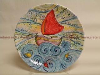 cod.art: pt20 - Piatto in ceramica dipinto a mano e personalizzato in base alle esigenze del cliente. Ne vorresti uno simile? Invia una richiesta e riceverai il preventivo con le spese di spedizione.