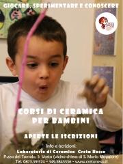 Corsi di ceramica per bambini a Vasto - a.s. 2019/20
