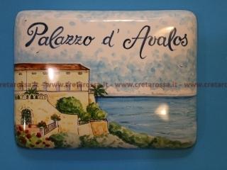 cod.art: va37 - Mattonella in ceramica con paesaggio di Vasto, dipinto a mano in base alla richiesta del cliente. Ne vorresti uno simile? Invia una richiesta e riceverai il preventivo con le spese di spedizione.