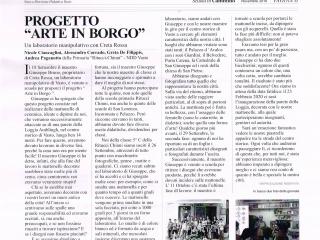 """ARTE IN BORGO (2020): Progetto di riqualificazione urbana, attraverso il rivestimento in maiolica del parapetto prospiciente la scalinata in ceramica """"G. Rossetti"""" realizzata nel 2013. Progetto didattico realizzato con la NDD Vasto e Creta Rossa"""