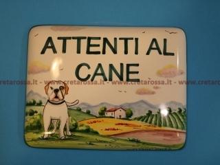 cod.art: nc89a - Mattonella in ceramica cm 17x13 e leggermente bombata con decoro del cane e scritta personalizzata. Ne vorresti una simile? Invia una richiesta e riceverai il preventivo con le spese di spedizione.