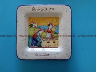 """cod.art: va46 - Piatto in ceramica dipinto a mano. """"Vasto Mia"""" Ne vorresti uno simile? Invia una richiesta e riceverai il preventivo con le spese di spedizione."""