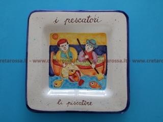 """cod.art: va45 - Piatto in ceramica dipinto a mano. """"Vasto Mia"""" Ne vorresti uno simile? Invia una richiesta e riceverai il preventivo con le spese di spedizione."""