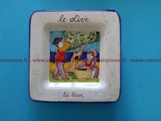 """cod.art: va47 - Piatto in ceramica dipinto a mano. """"Vasto Mia"""" Ne vorresti uno simile? Invia una richiesta e riceverai il preventivo con le spese di spedizione."""