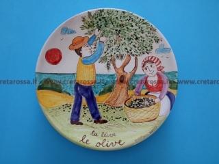 """cod.art: va43 - Piatto in ceramica dipinto a mano. """"Vasto Mia"""" Ne vorresti uno simile? Invia una richiesta e riceverai il preventivo con le spese di spedizione."""