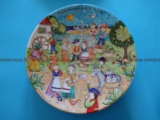 """cod.art: va39 - Piatto in ceramica dipinto a mano. """"Vasto Mia"""" Ne vorresti uno simile? Invia una richiesta e riceverai il preventivo con le spese di spedizione."""