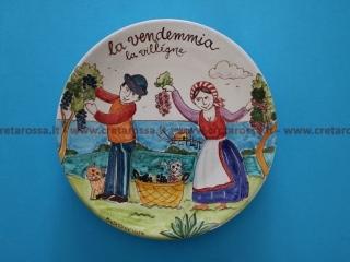 """cod.art: va42 - Piatto in ceramica dipinto a mano. """"Vasto Mia"""" Ne vorresti uno simile? Invia una richiesta e riceverai il preventivo con le spese di spedizione."""