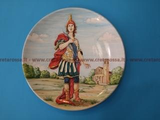 """cod.art: lc14a - Particolare piatto in ceramica da cm 35, raffigurante """"San Vitale"""". Ne vorresti uno simile? Invia una richiesta e riceverai il preventivo con le spese di spedizione."""