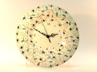 (CODICE ARTICOLO: OR/03) Orologio dipinto a mano con motivo arabo. Tecnica:Maiolica