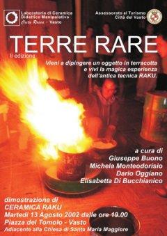 Terre Rare 2002 - manifestazione di ceramica e artigianato, arte e musica - Laboratori estivi di pittura e argilla per bambini e adulti - Vasto