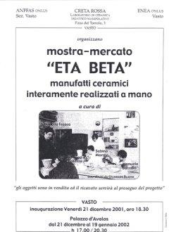 Mostra di ceramica Eta Beta - 2001