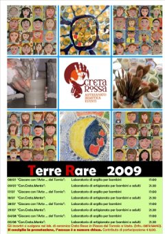 Terre Rare 2009, Manifestazione di arte, artgianato e cultura