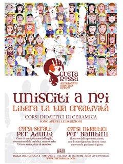 Laboratorio Creta Rossa - Corsi didattici di Ceramica per adulti e bambini