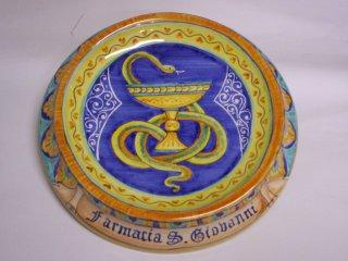 (CODICE ARTICOLO: AZ/16) Oggettistica personalizzata con logo aziendale.Tecnica: maiolica