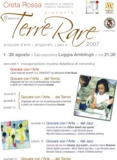 Terre Rare 2007 - manifestazione di ceramica e artigianato, arte e musica - Laboratori estivi di pittura e argilla per bambini e adulti - Vasto