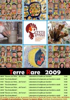 Terre Rare 2009 - manifestazione di ceramica e artigianato, arte e musica - Laboratori estivi di pittura e argilla per bambini e adulti - Vasto