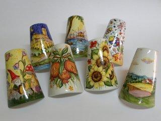 Bomboniere in ceramica dipinte a mano per battesimo, comunione, matrimonio o anniversario.