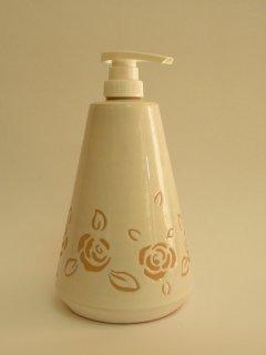 (CODICE ARTICOLO: AB/11) Dispenser inciso a mano nello smalto con raffigurazioni di roselline.