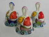 Campanelle in ceramica dipinte a mano