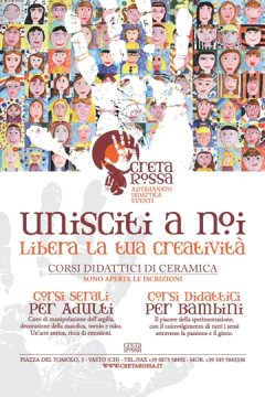 Corsi estivi di ceramica - laboratorio Creta Rossa - decorazione e lavorazione dell'argilla - Vasto - Chieti - Abruzzo