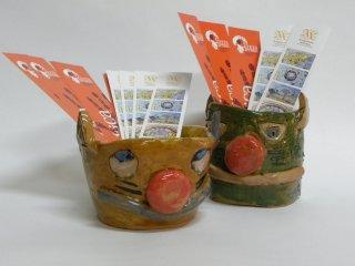 VasiGatto realizzati dai bambini durante i corsi svolti nel laboratorio Creta Rossa
