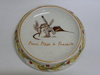 (CODICE ARTICOLO: AZ/01) Rendiresto in ceramica dipinto a mano con logo aziendale. Tecnica: maiolica