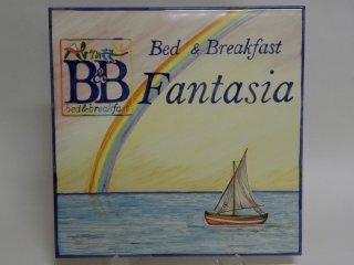 (CODICE ARTICOLO: TP/19) Insegna in ceramica dipinta a mano con riproduzione del logo per un bed & breakfast . Tecnica: maiolica