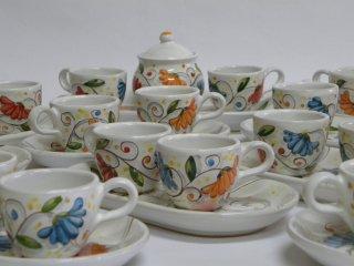 ( CODICE ARTICOLO: TAZ/01) Tazzine da caffè - Produzione artigianale in ceramica dipinta a mano con decoro