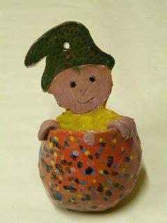 Lavori realizzati dai bambini durante i corsi didattici di ceramica per bambini che si svolgono da Creta Rossa